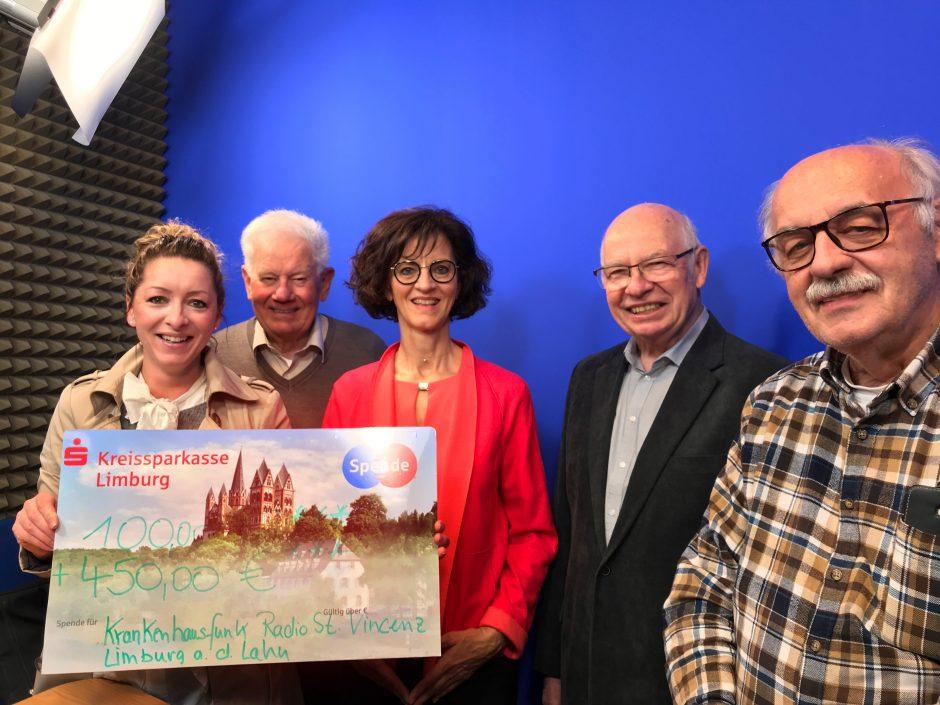 """Spende für den Fernsehsender des """"Krankenhausfunk Radio St. Vincenz Limburg e. V."""""""