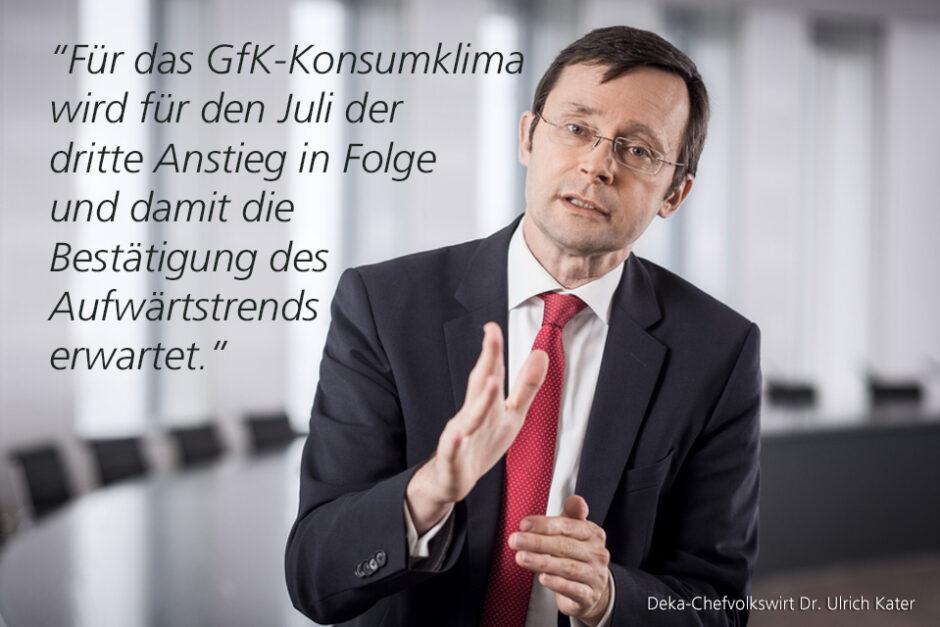 Kolumne Dr. Ulrich Kater, Chefvolkswirt der DekaBank: Hoffnungen auf Impfstoff