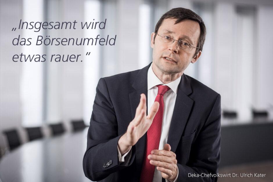 Kolumne Dr. Ulrich Kater, Chefvolkswirt der DekaBank: Tech-Werte: Dämpfer zum Wochenschluss