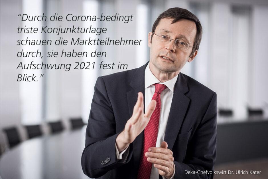 Kolumne Dr. Ulrich Kater, Chefvolkswirt der DekaBank: Jahresende mit Börsenfeuerwerk