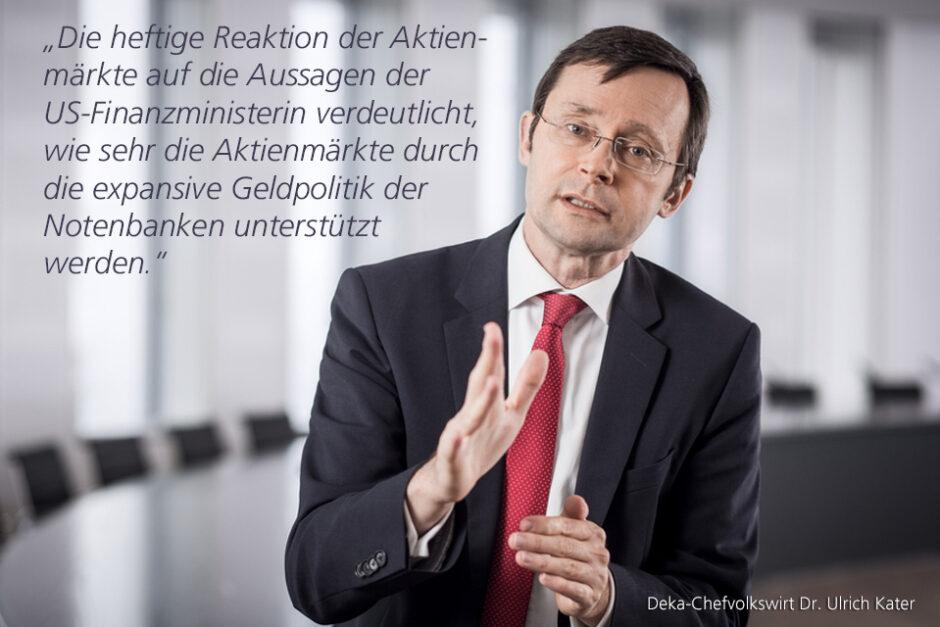 Kolumne Dr. Ulrich Kater, Chefvolkswirt der DekaBank: Schrecksekunde an den Börsen