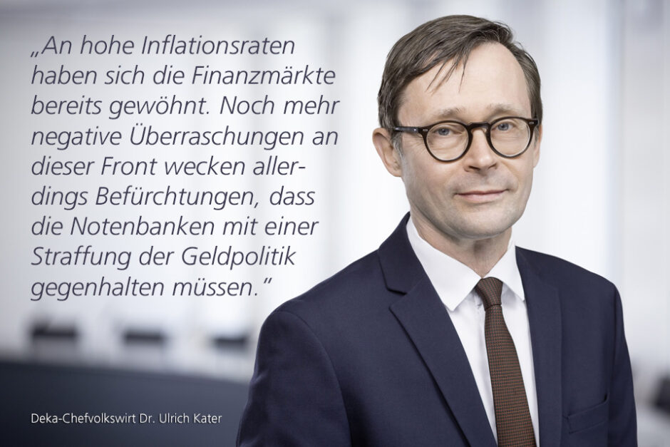 Kolumne Dr. Ulrich Kater, Chefvolkswirt der DekaBank: Angeschlagener Aktienmarkt